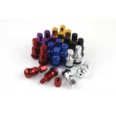 4x Aluminium Felgen Metall Ventile eloxiert tire valves farbig bunt