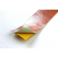 1m Alu Gewebe Hitzeschutz Klebe Band 50mm 850°C Fiberglas Thermo