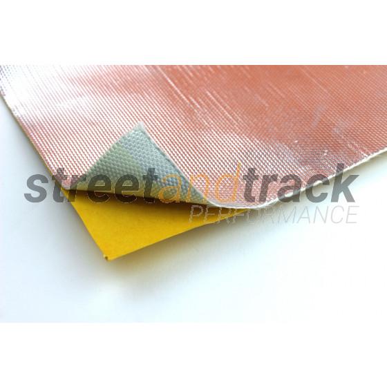 Hitzeschutzfolie Hitzeschutz Matte 25x50cm 1mm Alu Gewebe selbst klebend 800°C