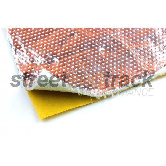 Alu Gewebe Hitzeschutz Matte selbst klebend 100x100cm 5mm 850°C Fiberglas Platte
