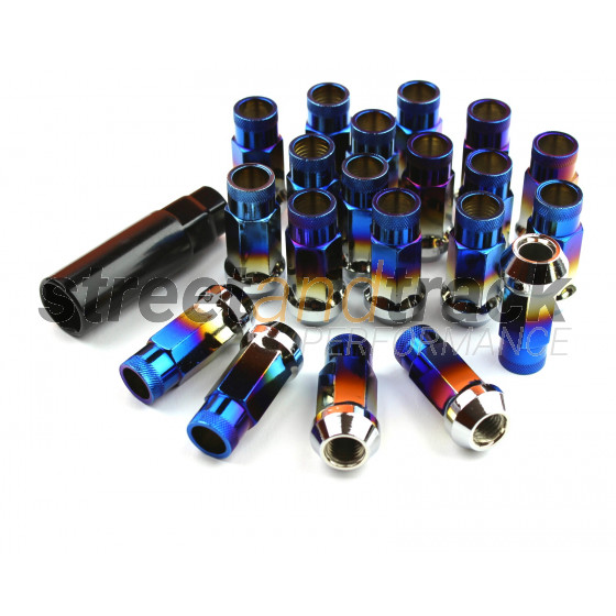 Steel Lug Nuts Stahl Radmuttern BURNED M12x1.5 Honda,Toyota,Mazda,Ford,Mitsubishi