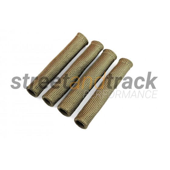 4x Basalt Hitzeschutz Schlauch Kabel schutz Zünd kerzen Stecker Turbo Titan