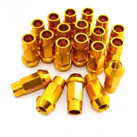 Lug Nuts Alu Radmuttern GOLD M12x1.25 Nissan, Subaru, Suzuki,etc. JDM