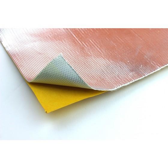 Hitzeschutzfolie Hitzeschutz Matte 25x100cm 1mm Alu Gewebe selbst klebend 800°C
