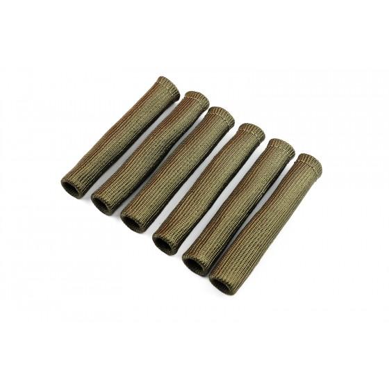 6x Basalt Hitzeschutz Schlauch Kabel schutz Zünd kerzen Stecker Turbo Titan