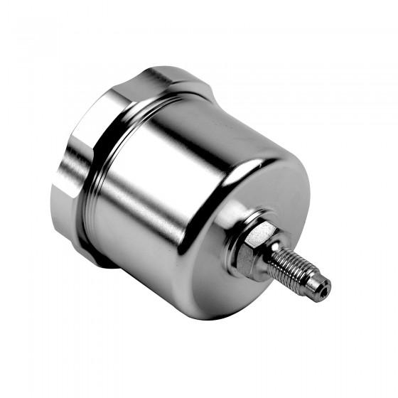 Bremsflüssigkeits behälter Alu für Hydraulische Handbremse Fly Off Silber