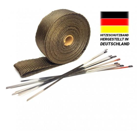 30m Titan Hitzeschutzband 50mm Auspuff Band 1400° Hitzeschutz Heat Wrap Krümmer