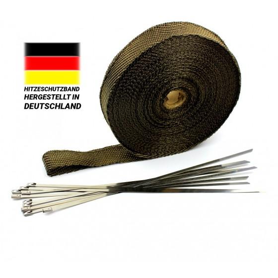 30m Titan Hitzeschutzband 30mm Auspuff Band 1400° Hitzeschutz Heat Wrap Krümmer