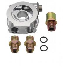 Ölkühler Adapter Sandwich Platte AN10 + Thermostat 3/4-16,M18,M20,M22
