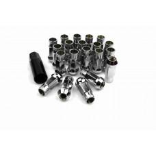 Steel Lug Nuts Stahl Radmuttern CHROM M12x1.25 Nissan, Subaru, Suzuki,etc. JDM