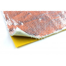 Alu Gewebe Hitzeschutz Matte selbst klebend 30x30cm 5mm 850°C Fiberglas Platte