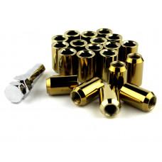 Steel Lug Nuts Stahl Radmuttern GOLD M12x1.25 Nissan, Subaru, Suzuki,etc. JDM