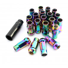 Steel Lug Nuts Stahl Radmuttern NEO-CHROM M12x1.5 Honda,Toyota,Mazda,Ford,Mitsubishi